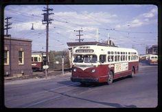 Chester-bound Red Arrow/SEPTA GMC TDH-4512 diesel bus 141 leaving 69th Street Terminal.