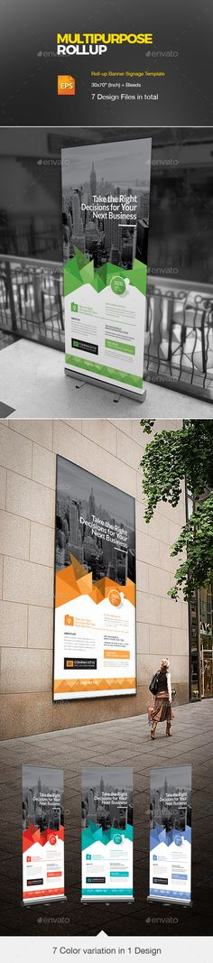 Roll Up  — EPS Template #agency flyer #marketing flyer • Download ➝ https://graphicriver.net/item/roll-up/18197714?ref=pxcr