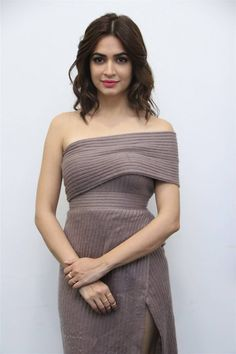 Kriti Kharbanda Long Hair Stills At Tamil Movie Press Meet