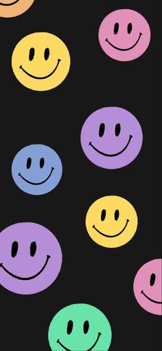 Smile Wallpaper, Hippie Wallpaper, Retro Wallpaper, Kids Wallpaper, Cartoon Wallpaper, Butterfly Wallpaper Iphone, Iphone Background Wallpaper, Cute Smiley Face, Wallpaper Fofos