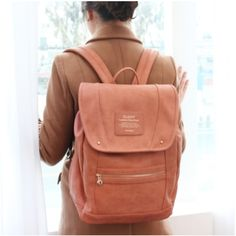 Classy Leather Backpack- Love this, can't decide whether i want the camel brown or the Nero black.