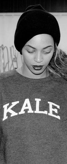 Kale print sweatshirt