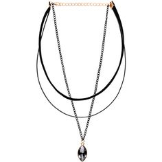 Three-Layer Bead Pendant Choker Necklace (5.45 NZD) ❤ liked on Polyvore featuring jewelry, necklaces, grey, double layer necklace, beaded choker necklace, beaded choker, beading necklaces and beaded pendant necklace