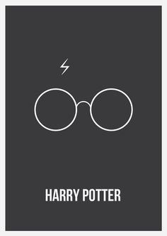 Harry Potter minimalist posters - created in Adobe Illustrator CS5