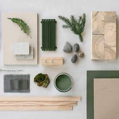 Lovely mood board with nature materials. For a sustainable house by Note Design Studio, Sweden. Lovely mood board with nature materials. For a sustainable house by Note Design Studio, Sweden. Note Design Studio, Notes Design, Identity Design, Mood Board Interior, Moodboard Interior Design, Interior Design Boards, What Is Fashion Designing, Material Board, Mood And Tone