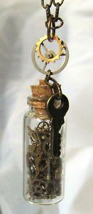Steampunk bottle pendant