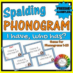 Spalding Phonogram I have, who has? FREEBIE game. Reinforce the Spalding phonograms 1-23 using this fun game. Try it now for free!