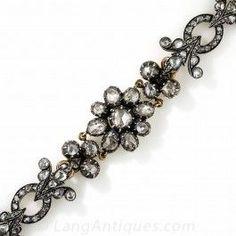 Lovely  Vintage Rose-Minimize Diamond Bracelet - French Import - What's New