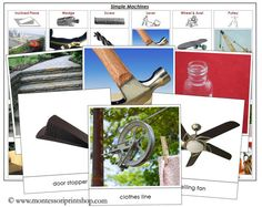 Simple Machines and Levers: Information on simple machines including: definition cards, lots of photographic images to be sorted according to type of simple machine, levers, etc.