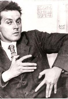 Egon Schiele (one of my very favorite painters) as photographed by Anton Josef Trčka