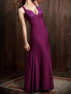 Low-cut V-neck Seductive Strap Pleated Maxi Dress