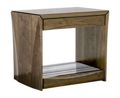 Crawford Nightstand  MidCentury  Modern, Stone, Wood, Night Stand by Hellman Chang