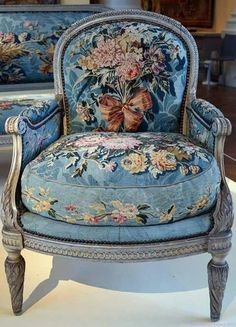 whimsical blue armchair
