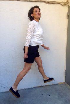 -Topp fra Stella Nova -Shorts fra Henry Cotton's   -Espadrilles fra Gaimo