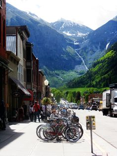 Telluride, CO. This should be on everyone's bucket list... jaw droppingly beautiful scenary anytime of year. High fashion, high altitude, high on my list of places to return!
