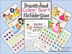 """Princess+Jewel+Color+Sort+File+Folder+Game+from+LearnandGrowDesigns+on+TeachersNotebook.com+-++(9+pages)++-+""""Princess+Jewel+Color+Sort+File+Folder+Game""""+was+created+by+Learn+and+Grow+Designs+to+reinforce+color+recognition+and+sorting+skills+in+an+exciting+way.+ Princess Games, Birth Of Jesus Christ, Princess Jewelry, File Folder Games, Grow Kit, Jewel Colors, Teaching Materials, Nursery Rhymes, Sorting"""