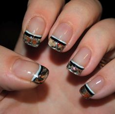 These are acrylic, but dry-marbling might work for natural nails!