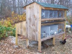 Have does that have kits or soon to have some in the bottom and bucks and/or bucks on the top. Nesting box that back part. Have top door on so can look at babies