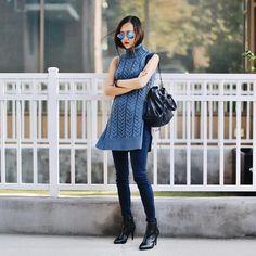 rowena.guo pairs her denim with knits. #InMyJBRAND