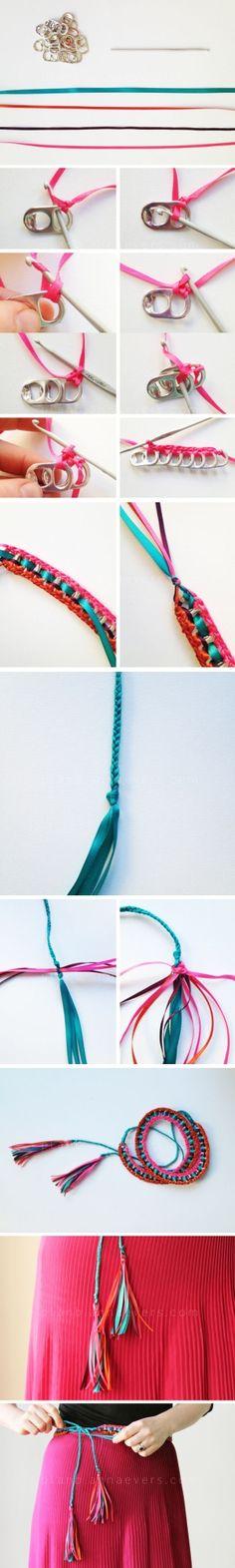 Cintur�n con anillas de latas   Muy Ingenioso by arioco