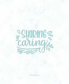 It's all about sharing. German Handlettering PDF Workbook on farbcafe.de <3