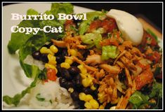 Yum!!! copy cat Chipotle burrito bowl recipes!!! Now I can make some Barbacoa at home!!!!