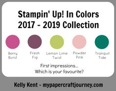 OnStage 2017 – New Colour Reveal!   kelly kent