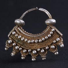 Old gilded silver earring. Hard to find!  Mauritania. AVAILABLE!