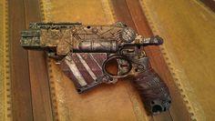Cosplay prop. Steampunk / Wasteland gun - Nerf Vortex