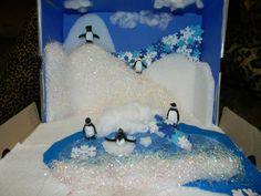 Examples of Habitat Dioramas | Shabby Kitteh: School Project. Penguin Ecosystem