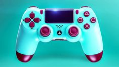 New PS4 Controller: Berry Blue DUALSHOCK 4 Trailer (Special Edition, 2018) Ps4 Controller Custom, Game Controller, Playstation Games, Ps4 Games, Xbox One, Gaming Setup, Gaming Chair, Games Fo, Kobe Bryant Pictures