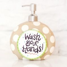 These Happy Everything Soap Pumps are an essential to any countertop! With endless attachment options, these Soap Pumps will be a countertop necessity all year long. Shop Coton Colors Happy Everything Collection in the Gift Shop! #shopdewaynes #happyeverything #cotoncolors