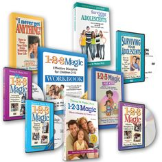 Parenting Toddlers to Teens Complete Book & DVD Library — 1-2-3 Magic Parenting