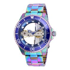 Shop for Invicta Men's 26602 'Pro Diver' Mechanical Iridescent Stainless Steel Watch. Get free delivery On EVERYTHING* Overstock - Your Online Watches Store! Hand Bracelet, Bracelet Watch, Stainless Steel Watch, Stainless Steel Bracelet, Cool Watches, Watches For Men, Popular Watches, Modern Watches, Elegant Watches