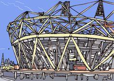 jameshobbs.olympicstadium...Urban Sketchers London Urban Sketchers, Architectural Drawings, Hobbs, Illustration Art, Sketches, London, Architecture, Photography, Travel