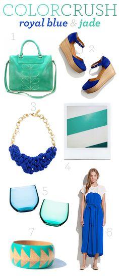 color crush: royal blue & jade