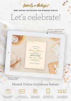 Invite and delight your wedding guests with #Minted's new online invitations. Try them FREE now on Minted.com