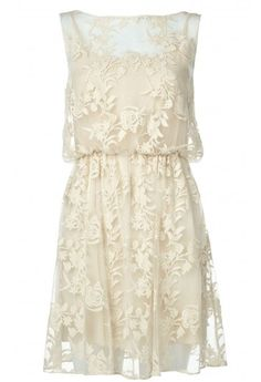 Alice + Olivia Darcy Lace Layover Dress $238