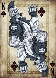cards king tattoo - Google Search