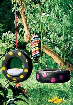 From tire swings to ottomans, there are many ways that you can repurpose old tires. Not only will you be helping the environment by reusing your old tires, you might save yourself some cash by making something that you want or need rather than buying it.
