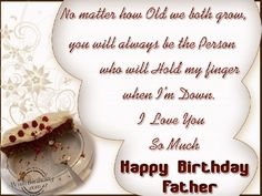 happy birthday wishes father - Google Search