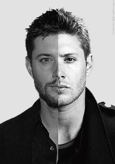Jensen vs Dean ...Jensen looks so much happier. Poor dean.
