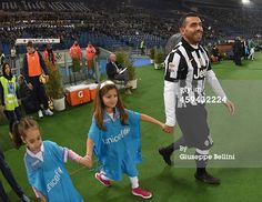 Carlos Tevez of Juventus FC before the Serie A...
