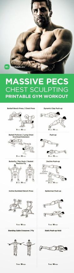 What guy doesn't want to be proud of taking his shirt off to reveal a well defined and sculpted chest? This workout is just for guys who ...