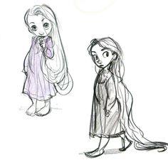Glen Keane, little Rapunzel. Co Cute.