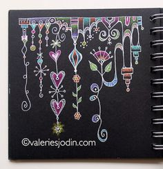 """What a beautiful Zenspirations dangle design ... """"Dangling tangles from visual blessings"""""""