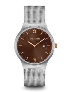 Caravelle New York Men's #45B138 Watch |  Retail Price: $110. | In-stock watches are 30% OFF and catalog orders are 25% OFF! | Click website for watch details | Andrew Gallagher Jewelers, Newark, DE | 302-368-3380 | WE SHIP!!! DON'T FORGET! There is NO Sales Tax in Delaware!!! |