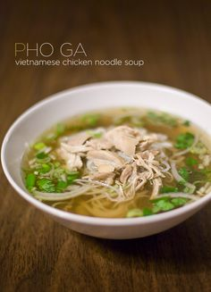 This is one of my FAVORITE soups! So ding dang yummy! Pho Ga: Vietnamese Chicken Noodle Soup Recipe #soup #recipe #easy #lunch #recipes