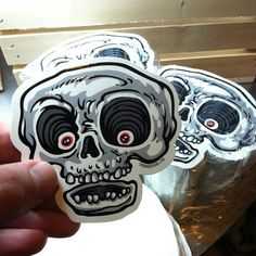 Sweet, my stickers from just arrived. Any takers? Graffiti Characters, Vector Characters, Skate Art, Flash Art, Cool Stickers, Skull Design, Sticker Design, Graphic Illustration, Screen Printing