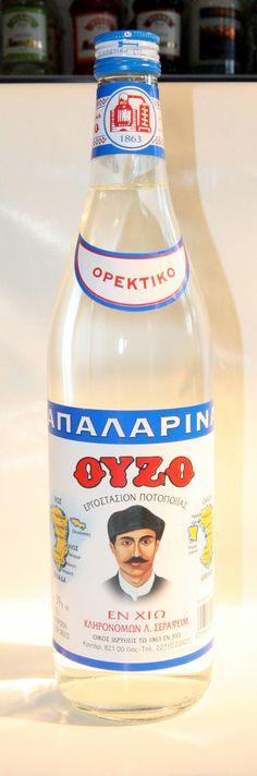 ΑΠΑΛΑΡΙΝΑ ΟΥΖΟ Chios, Greek, Water Bottle, Spirit, Island, Drinks, Wine Pairings, Block Island, Drinking